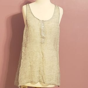 NEW NO TAGS Eileen Fisher silver woven mesh top.